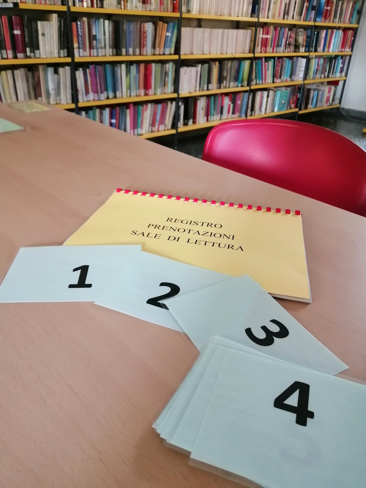 tavolo lettura