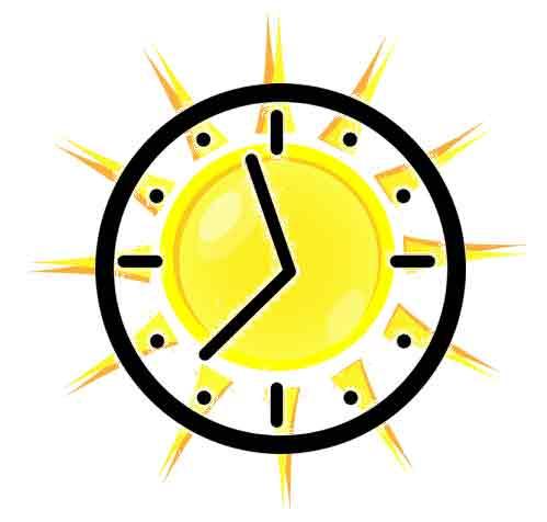 sole e orologio- immagine logo
